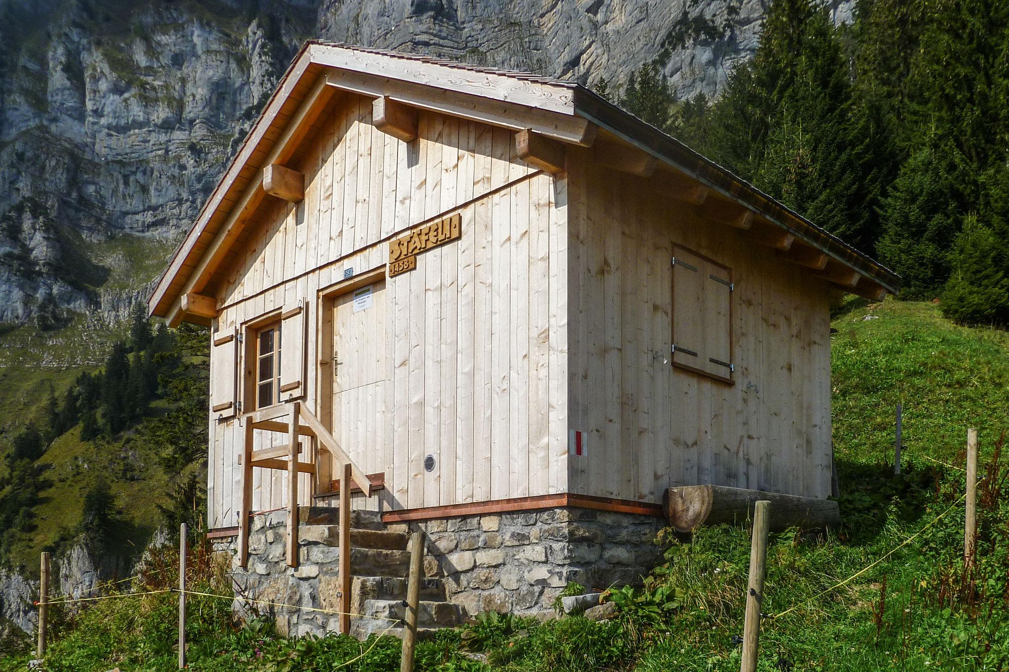 Realisierte Projekte Stiftung pro Quinten: Alphütte Stäfeli